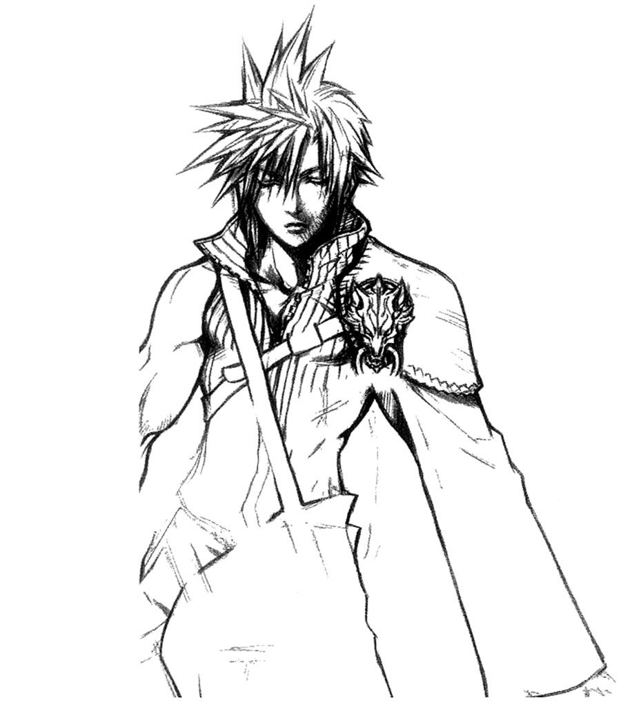 Cloud Strife Sketch Final Fantasy Vii Advent Children Tetsuya