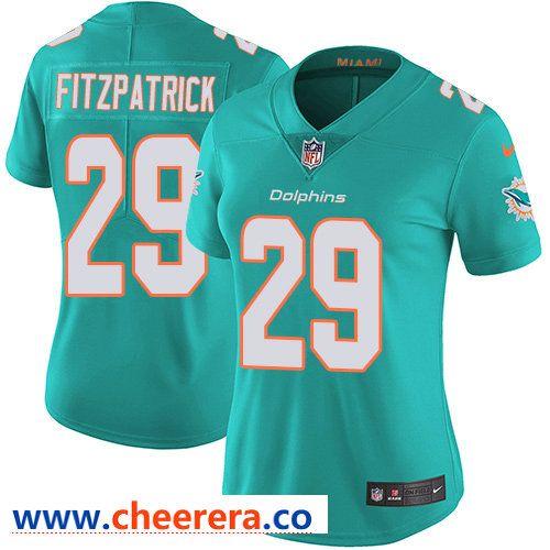 Hot Nike Dolphins #29 Minkah Fitzpatrick Aqua Green Team Color Women's  free shipping
