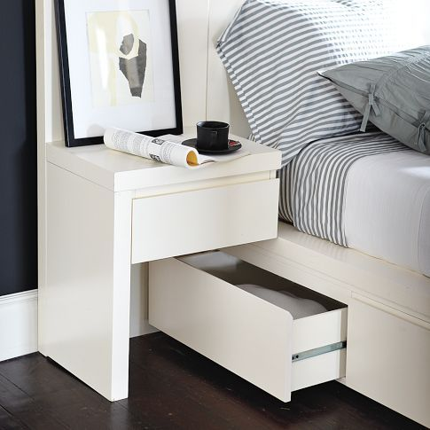 Bed Frame With Headboard Storage Nightstand Bedroom Storage