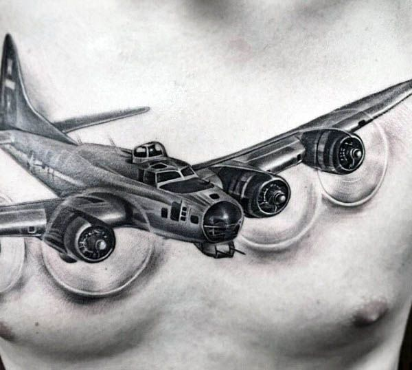 50 Airplane Tattoos For Men Aviation And Flight Ideas Airplane