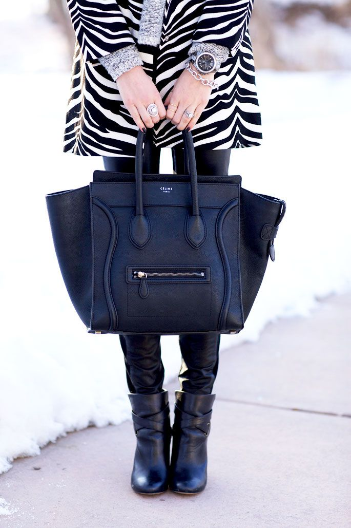 Celine bag with a Michael Kors statement watch...