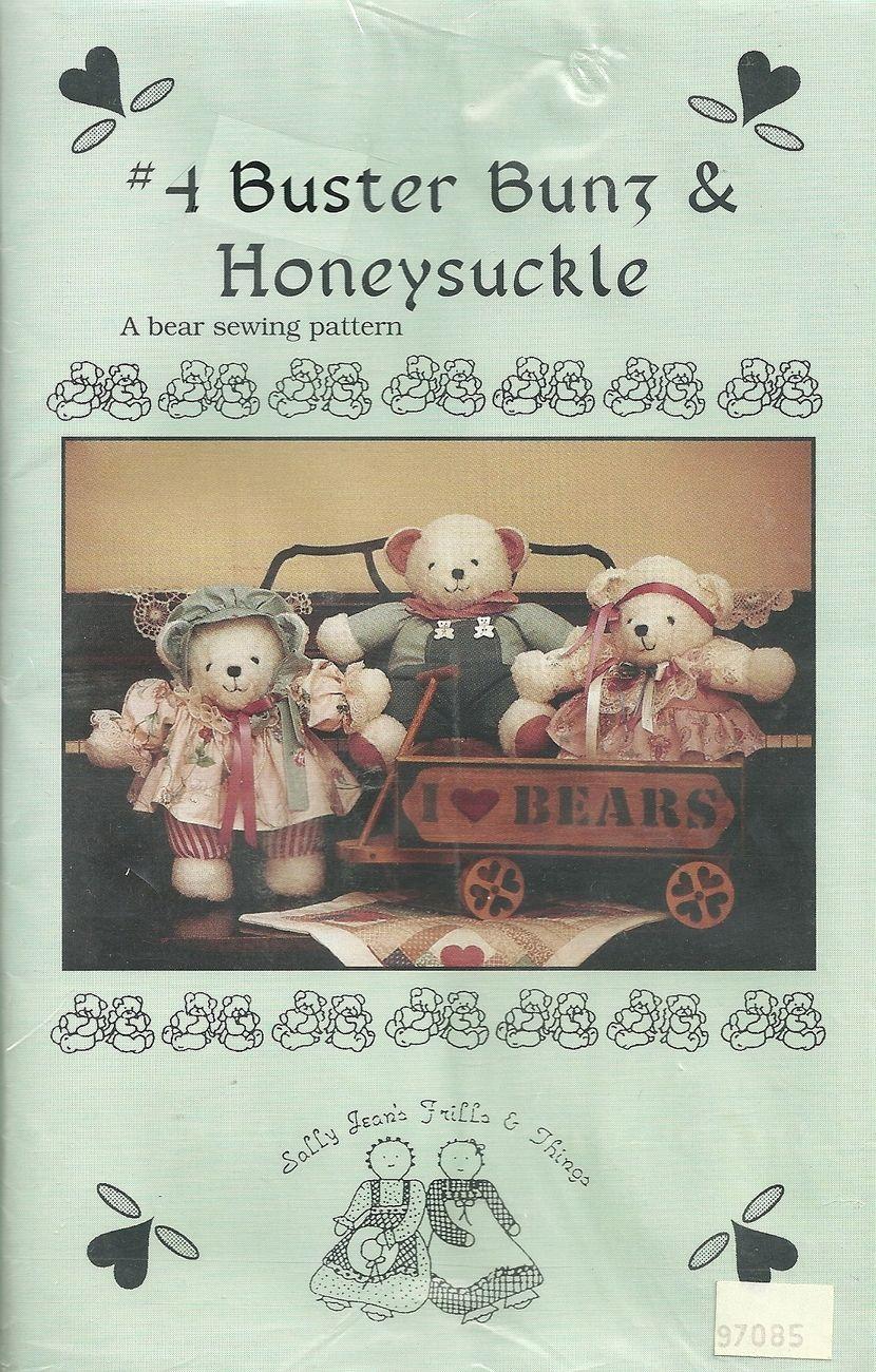 TEDDY BEARS ~ BUSTER BUNS & HONEYSUCKLE PATTERN