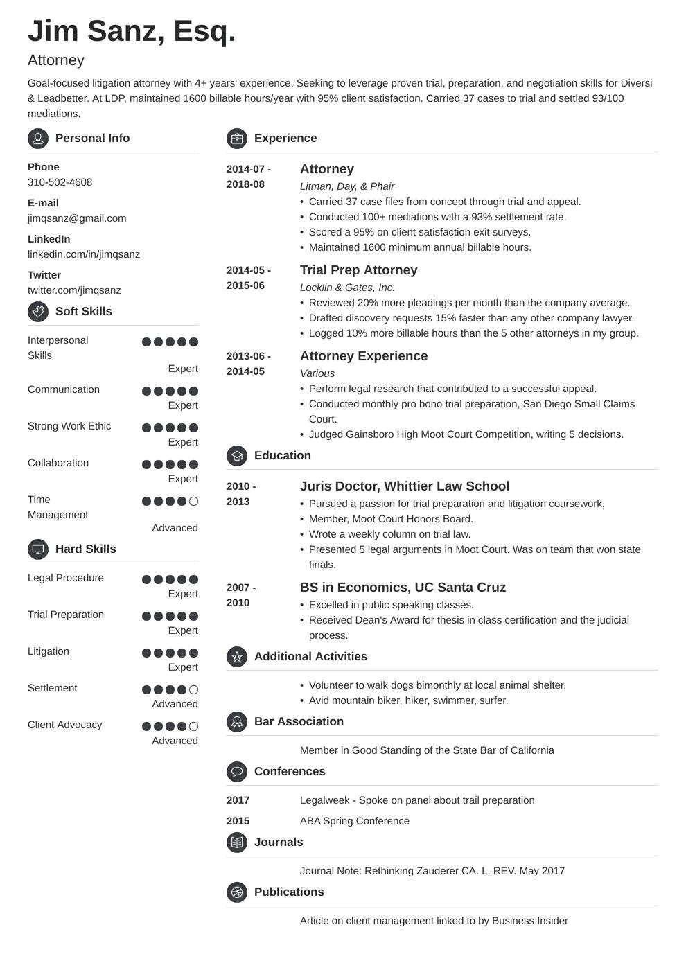 attorney resume template crisp in 2020 Resume examples