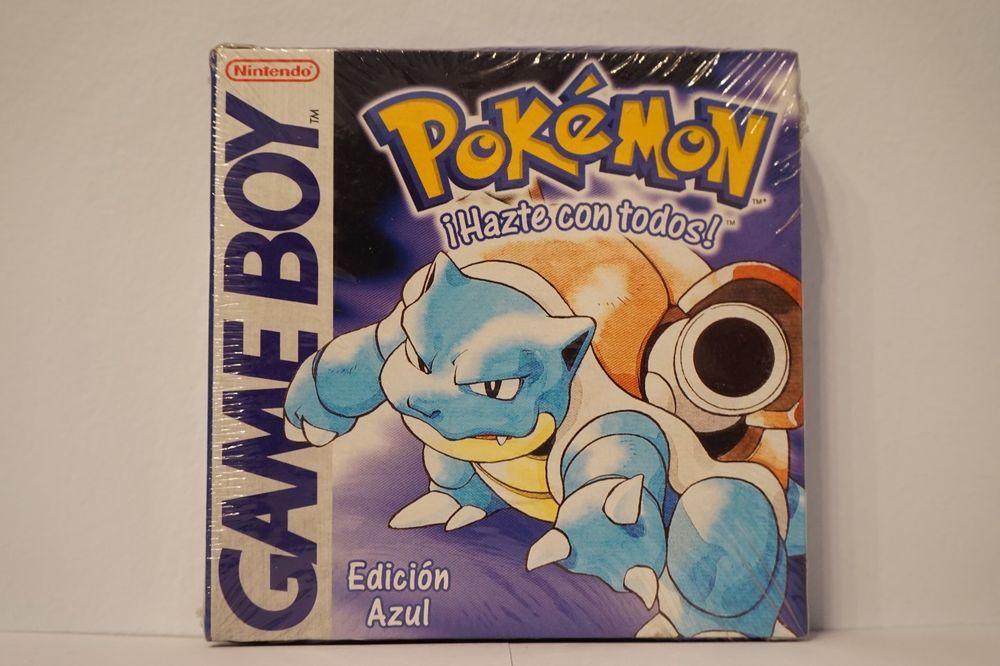 Pokemon Edicion Azul Nintendo Game Boy Nuevo Sellado Idioma Español Esp Pokemon Funny Gif Diy Inspiration