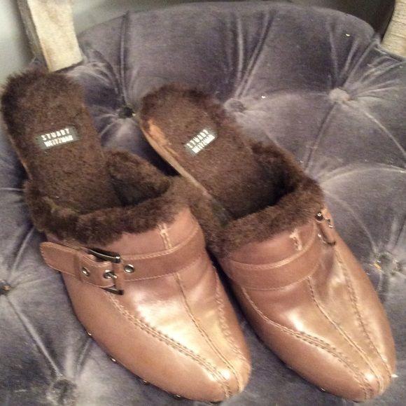 Stuart Weitzman clogs Stuart Weitzman size 8.5 brown leather mules Stuart Weitzman Shoes Mules & Clogs