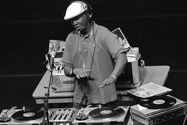 1991: Berklee incorporates hip-hop into the curriculum. Here, Grandmaster Flash teaches a clinic.
