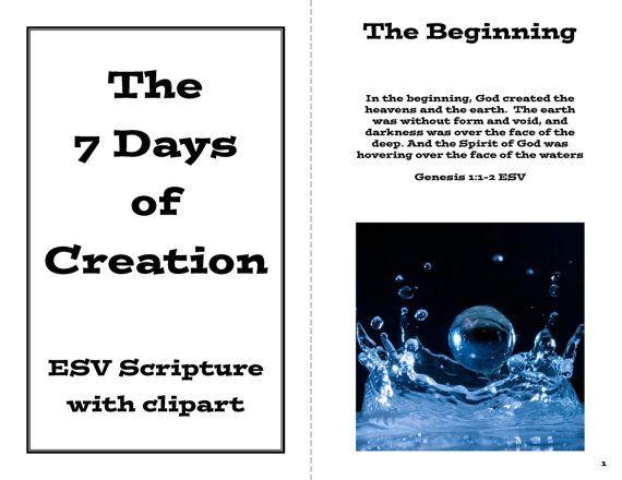 The Creation Story Booklet Genesis 1 Printable Pdf File Creation Story Days Of Creation Genesis Creation