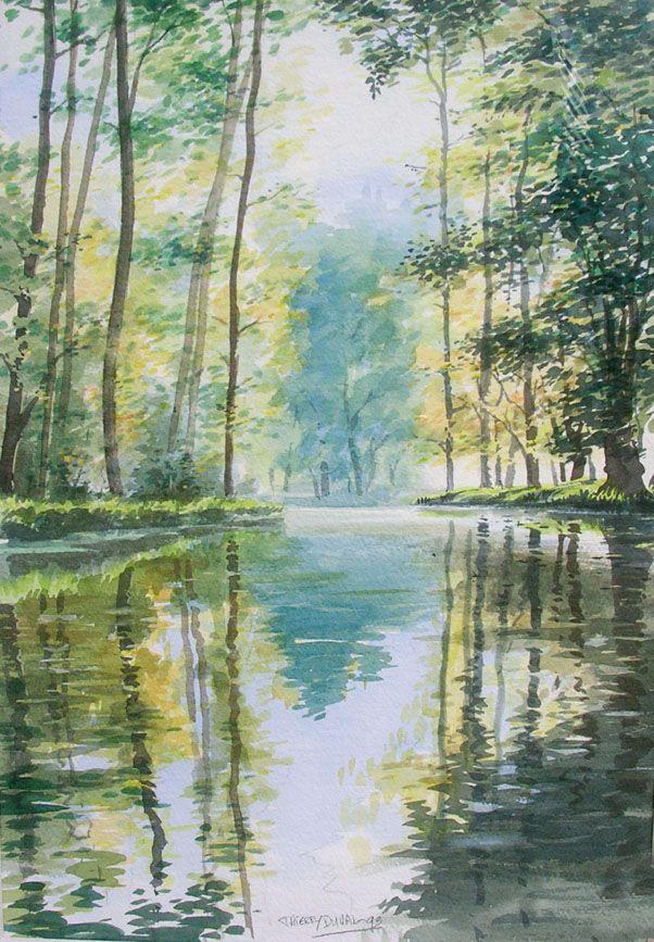 Aquarelles Thierry Duval Dessin Paysage Peinture Naturelle Et