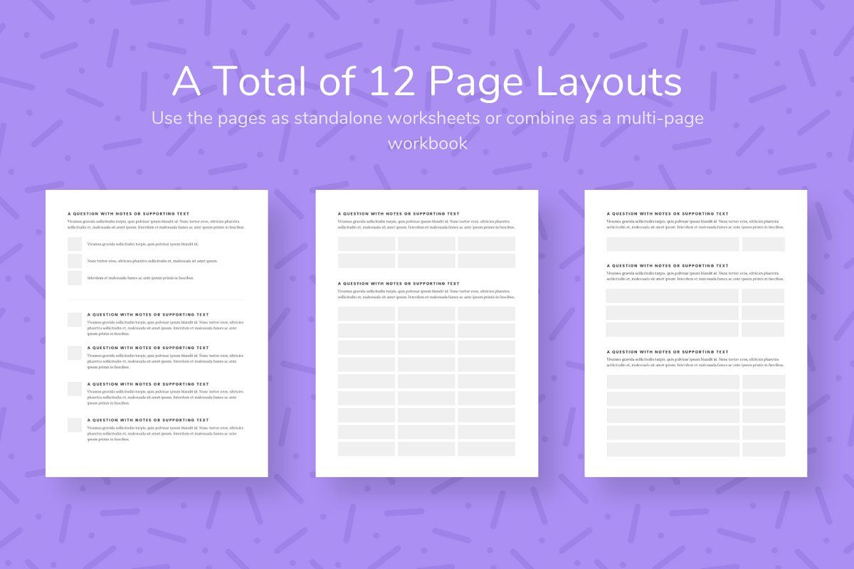 Ad Canva Workbook Template Bundle By Authority On