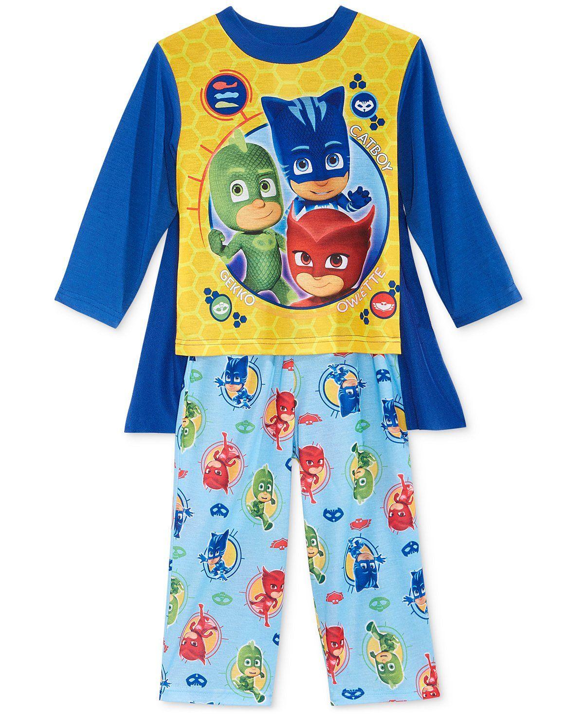 Boys Pj Mask Blue Long Pyjamas
