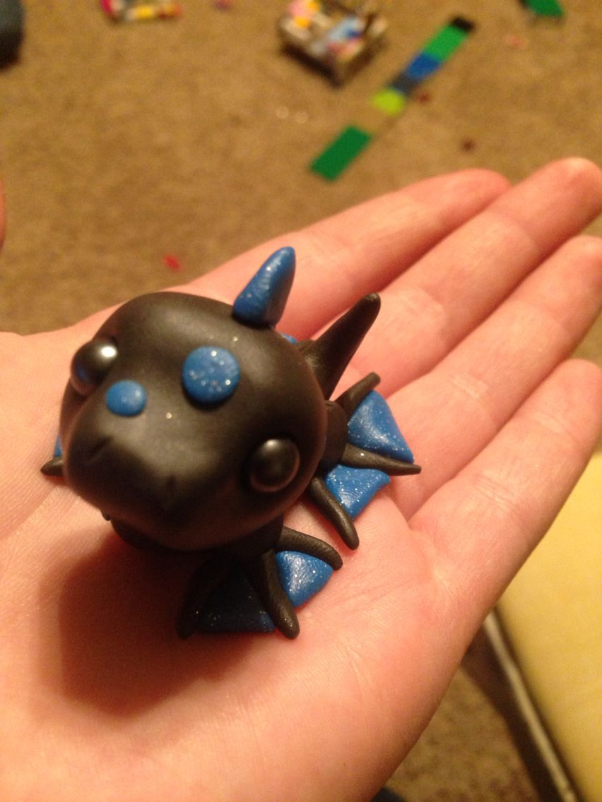 Blue and black baby sea serpent