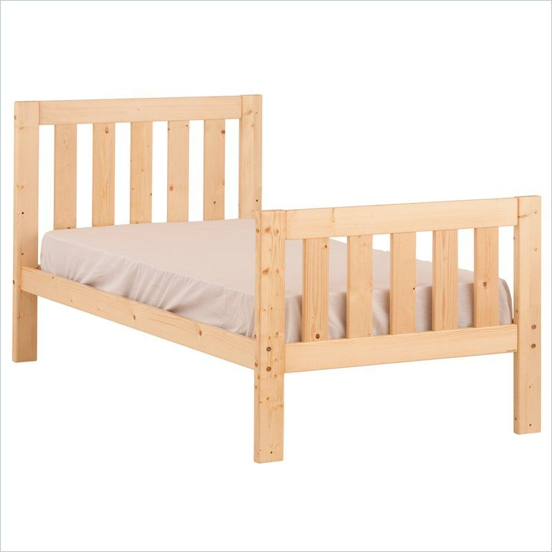 Canwood Alpine Ii Solid Pine Wood Twin Bed In Natural Kids Bed