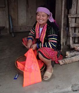 November 12 Dien Bien Phu To Sapa Hmong Clothes Hmong Textiles Red Marks