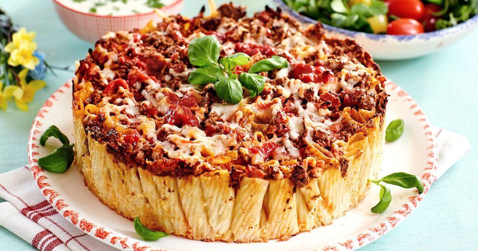 Festlig Och Fin Pastapaj Med Bacon Och Kottfars Recept Bacon