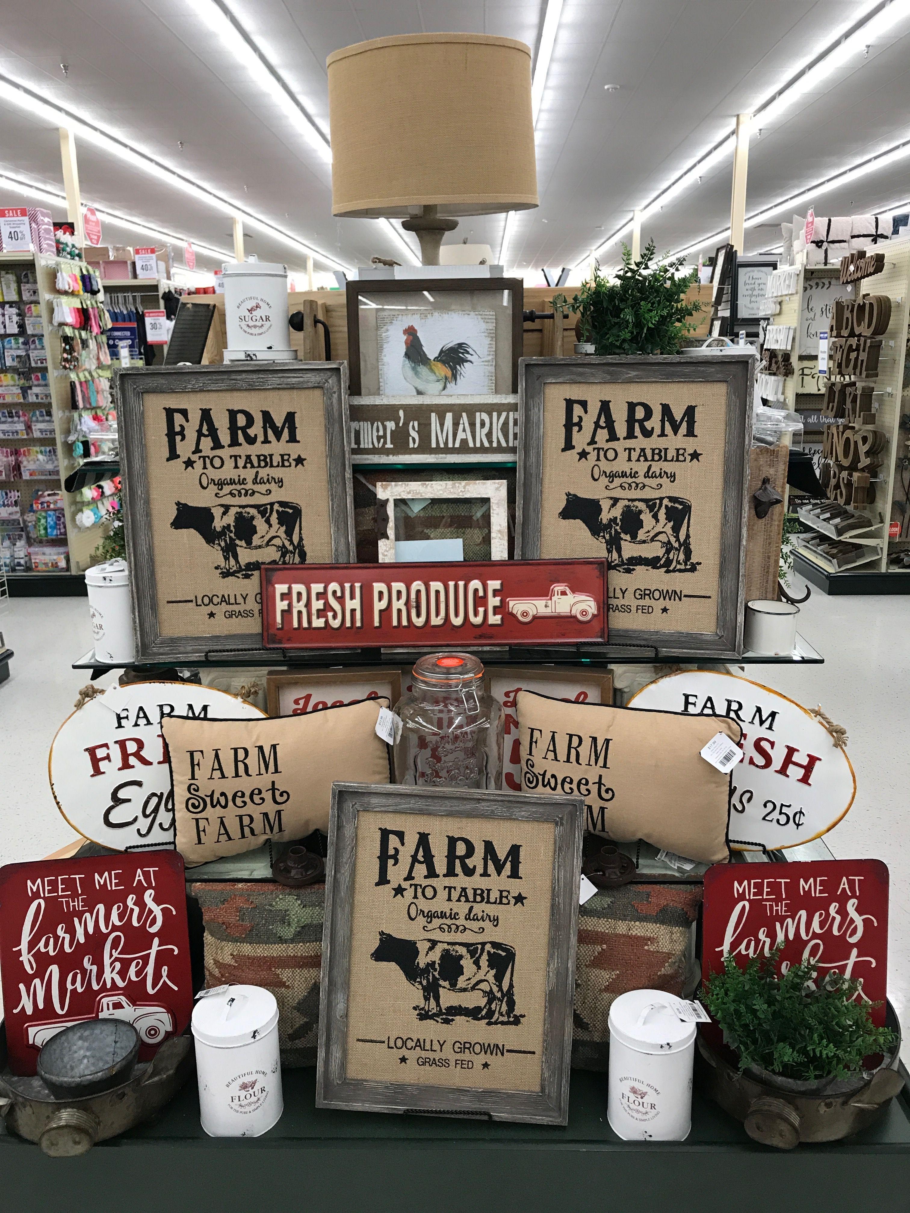 Farm to table Hobby lobby decor, Farmhouse decor