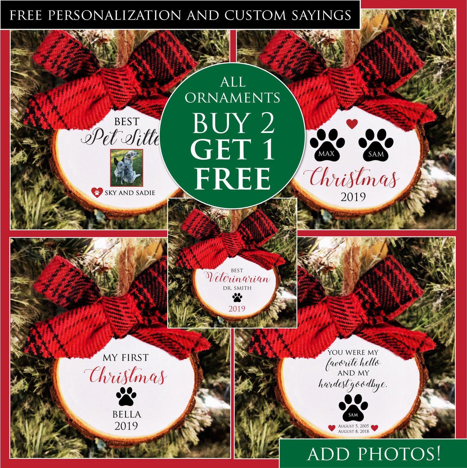 Christmas Ornament Sale Buy 2 Get 1 Free Custom Colors And Etsy In 2020 Dog Christmas Ornaments Christmas Ornaments Sale Christmas Dog
