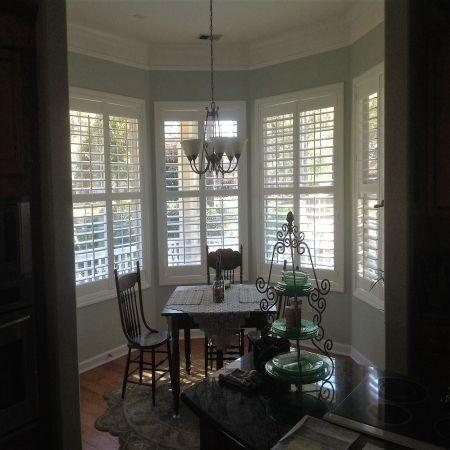 faux wood plantation shutters Living room ideas Pinterest Wood