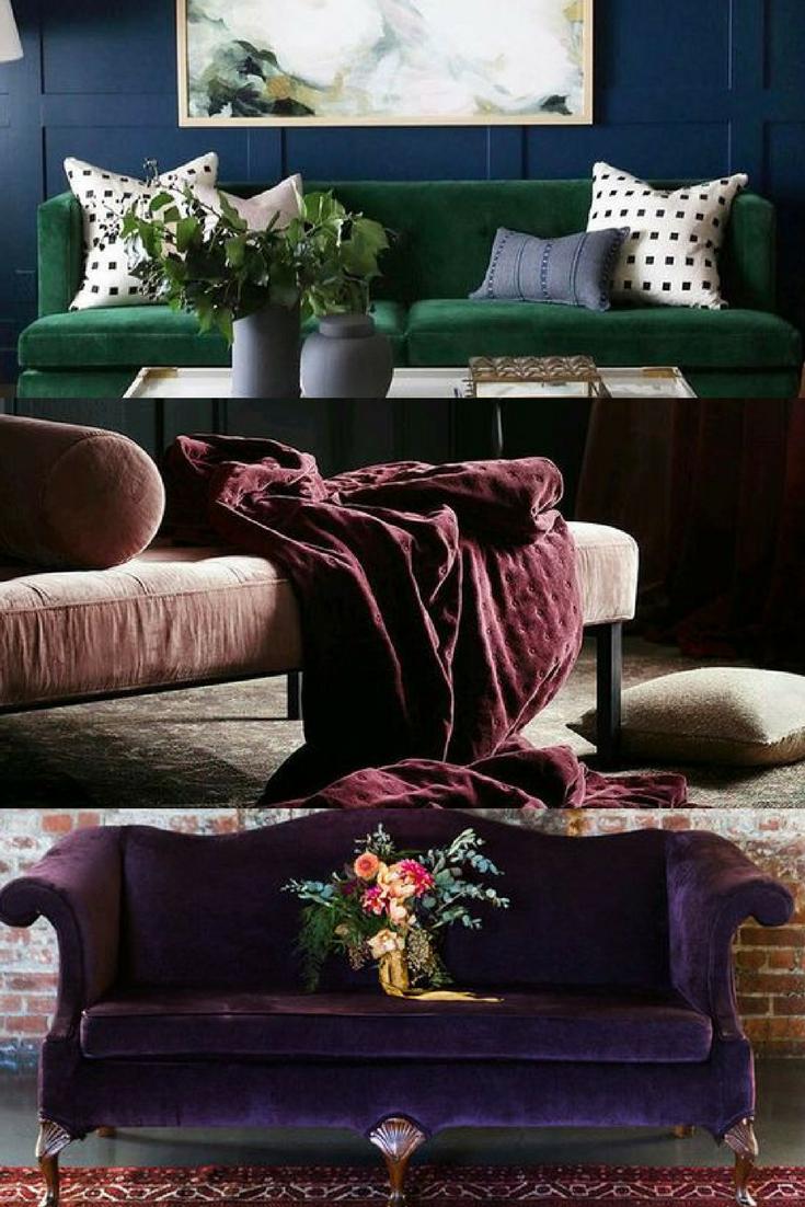 Best interior design · jewel tones · jewel tones and velvet couches top spring decor trends jewel tones home decor