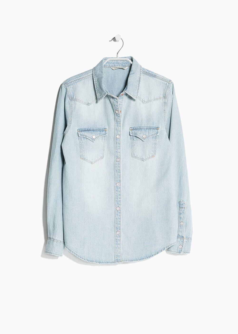 Chemise en jean grise femme mango