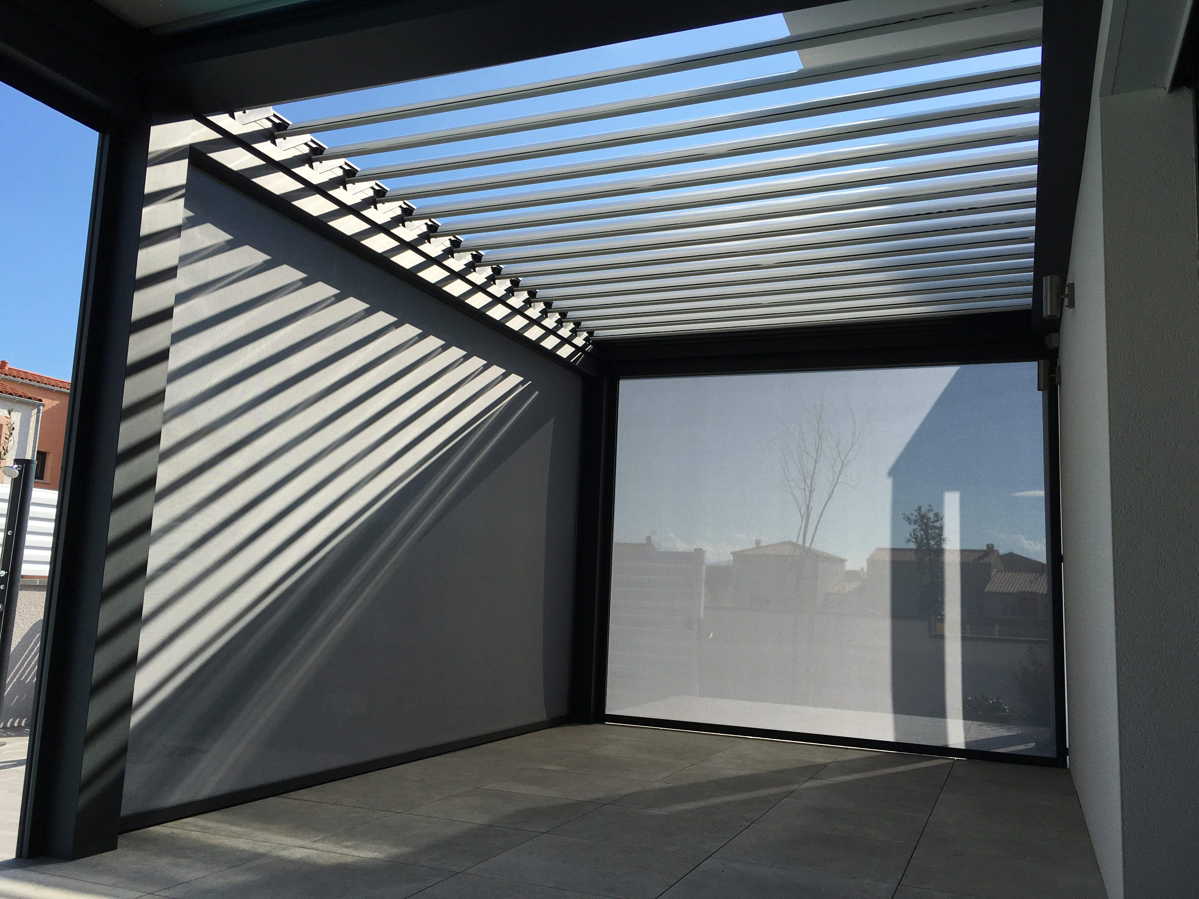 pergola bioclimatica durmi pergolas de aluminio pergolas jardin pergolas metalicas somos fabricantes - Pergola Aluminio