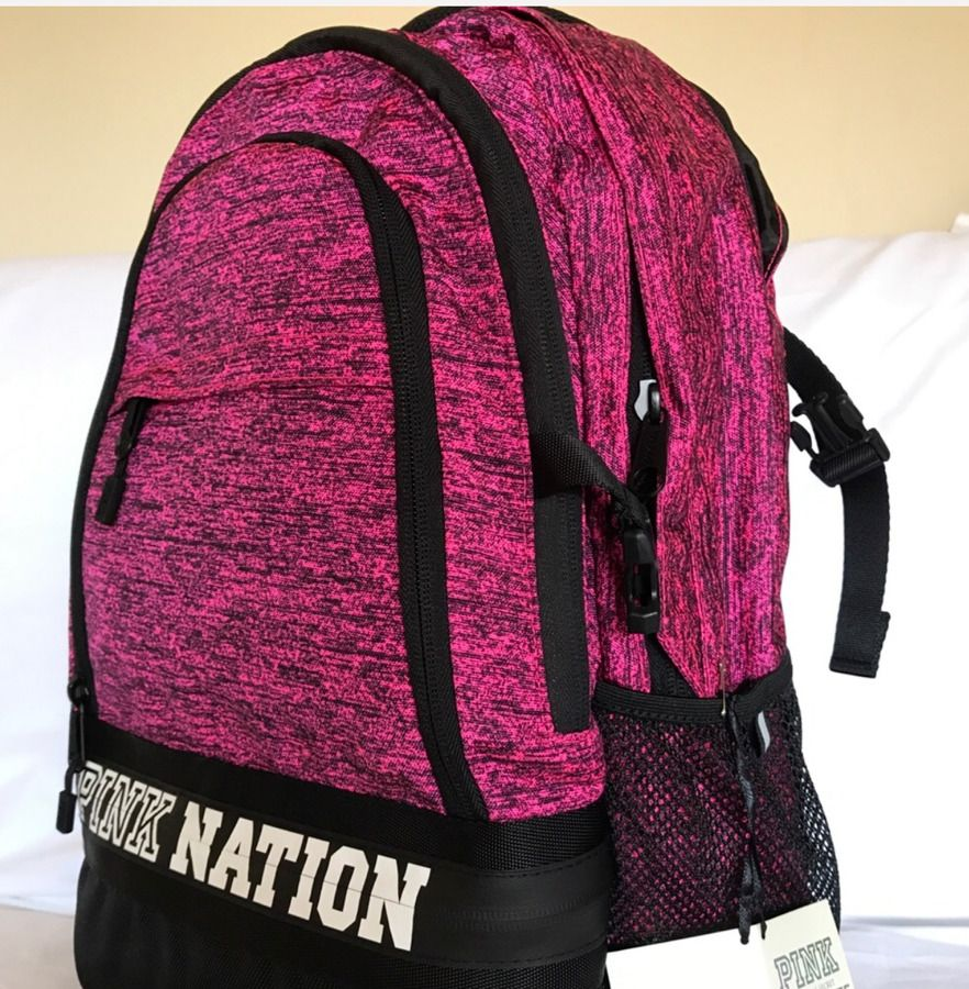 Victorias Secret Pink Collegiate Backpack Black- Fenix Toulouse Handball 167f231ba4ef2