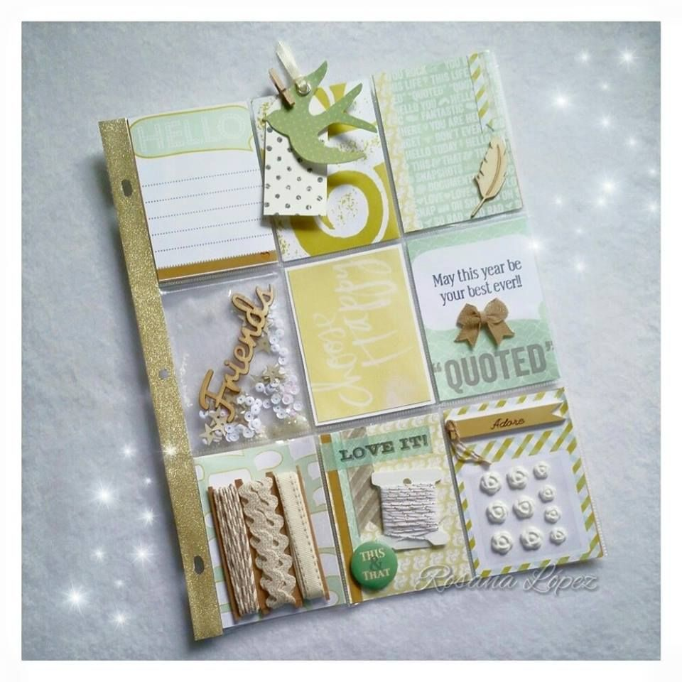 Pocket Letters Gold And Mint Green Glitter Goodness