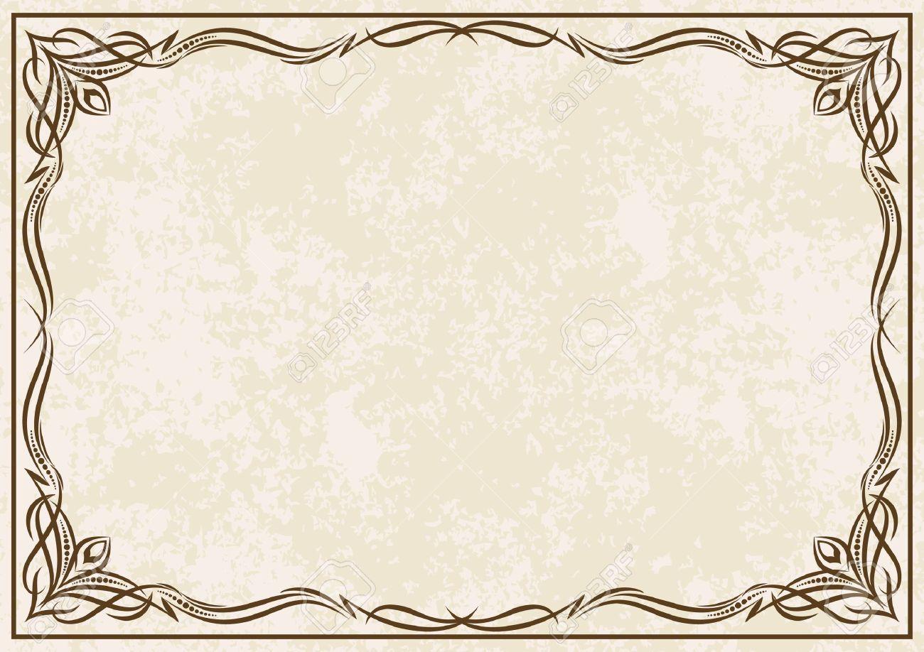 elegant blue page borders