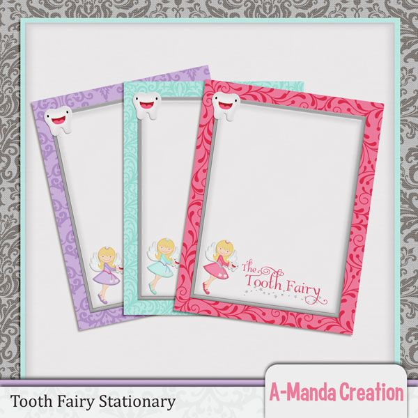photo about Tooth Fairy Stationary identify A-Manda Output: Teeth Fairy Printables, assignments, teeth