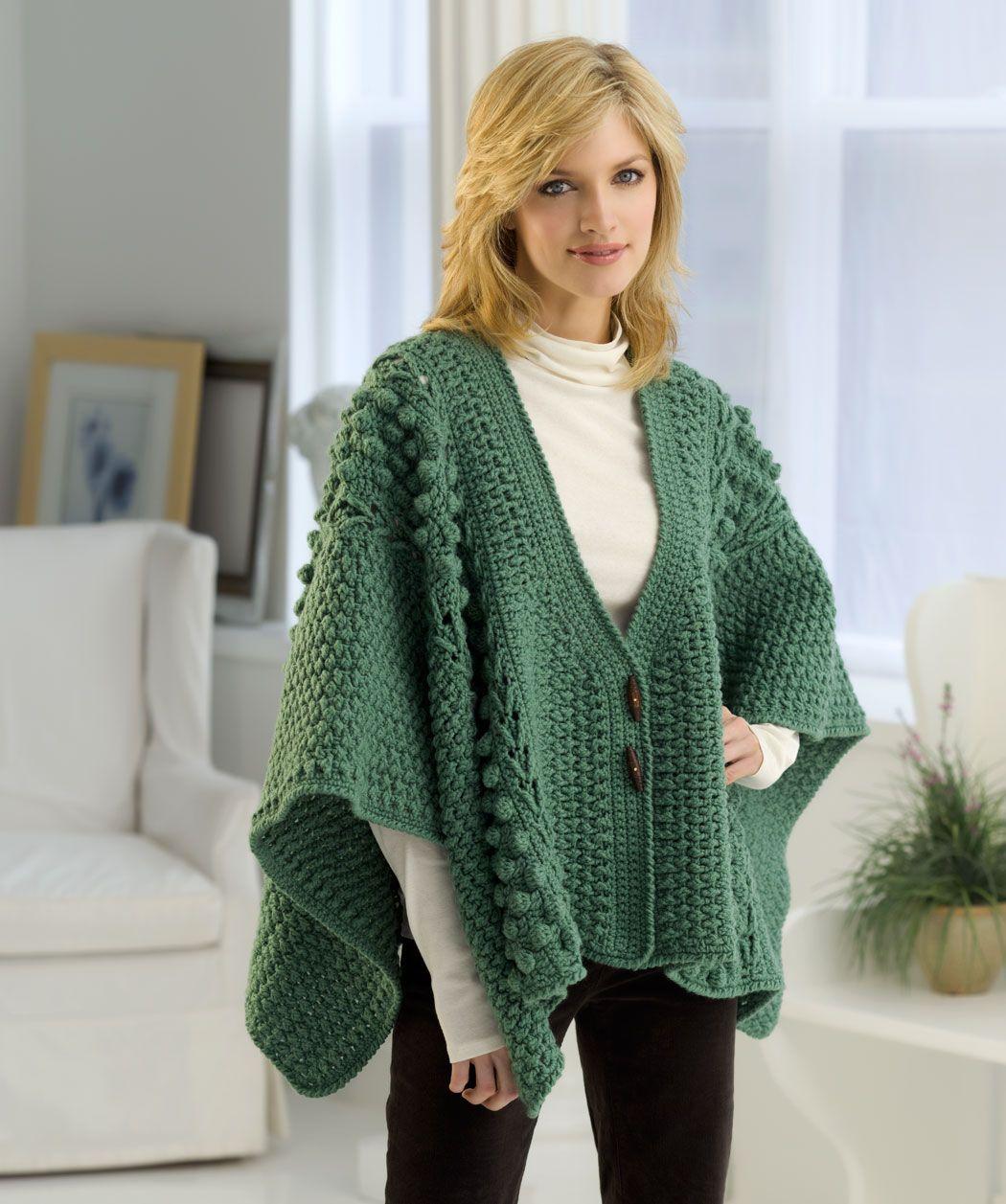 It looks so cozy! Free crochet pattern | hermosas prendas a crochet ...