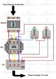 direct online starter / dol starter wiring diagram