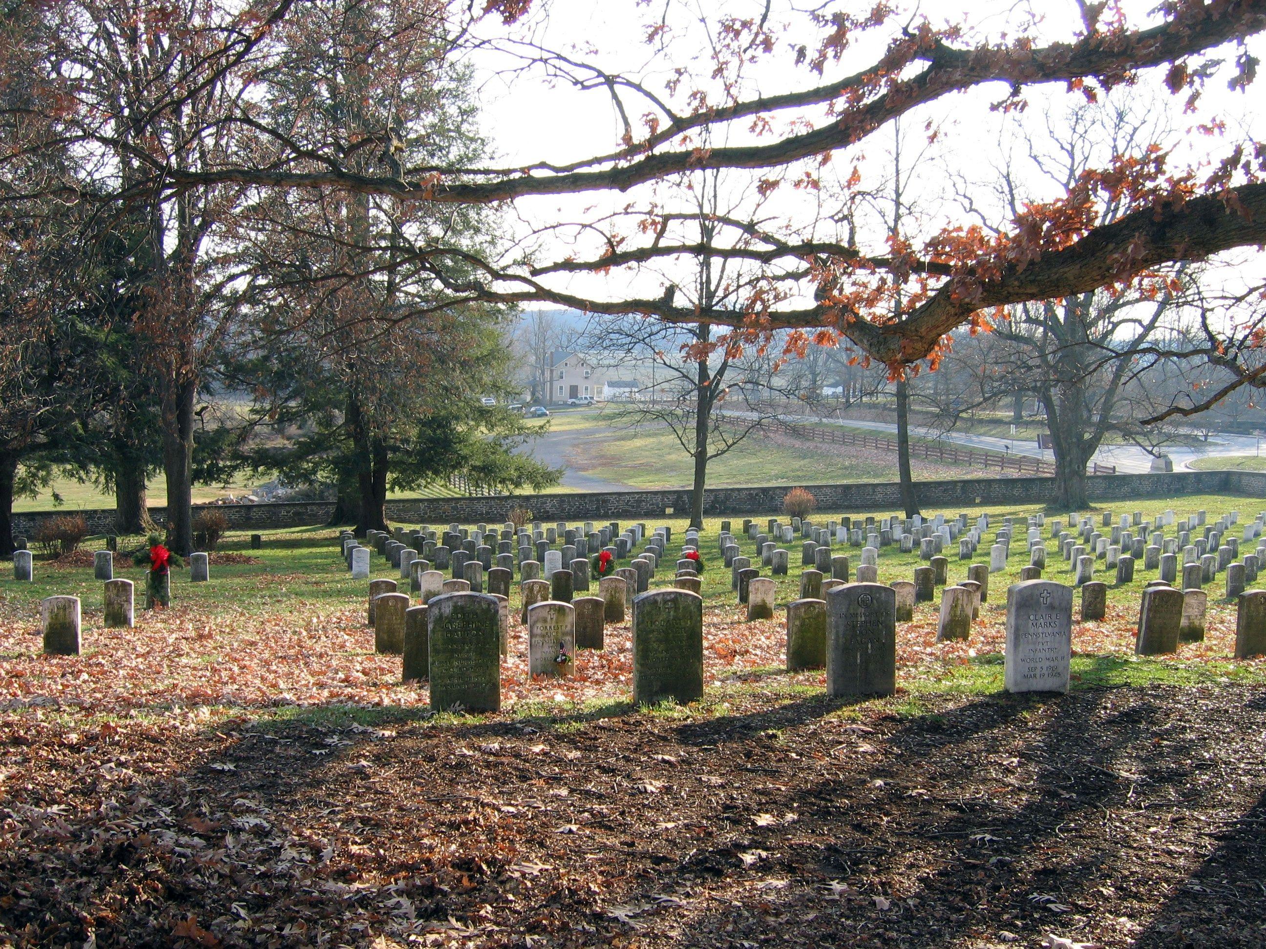 Soldiers National Cemetery At Gettysburg Dedicated On November