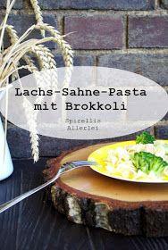 Pasta mit Sahnesauce und Lachs