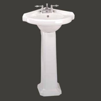 Small White Cloakroom Pedestal Sink E Saver Grade A Vitreous China
