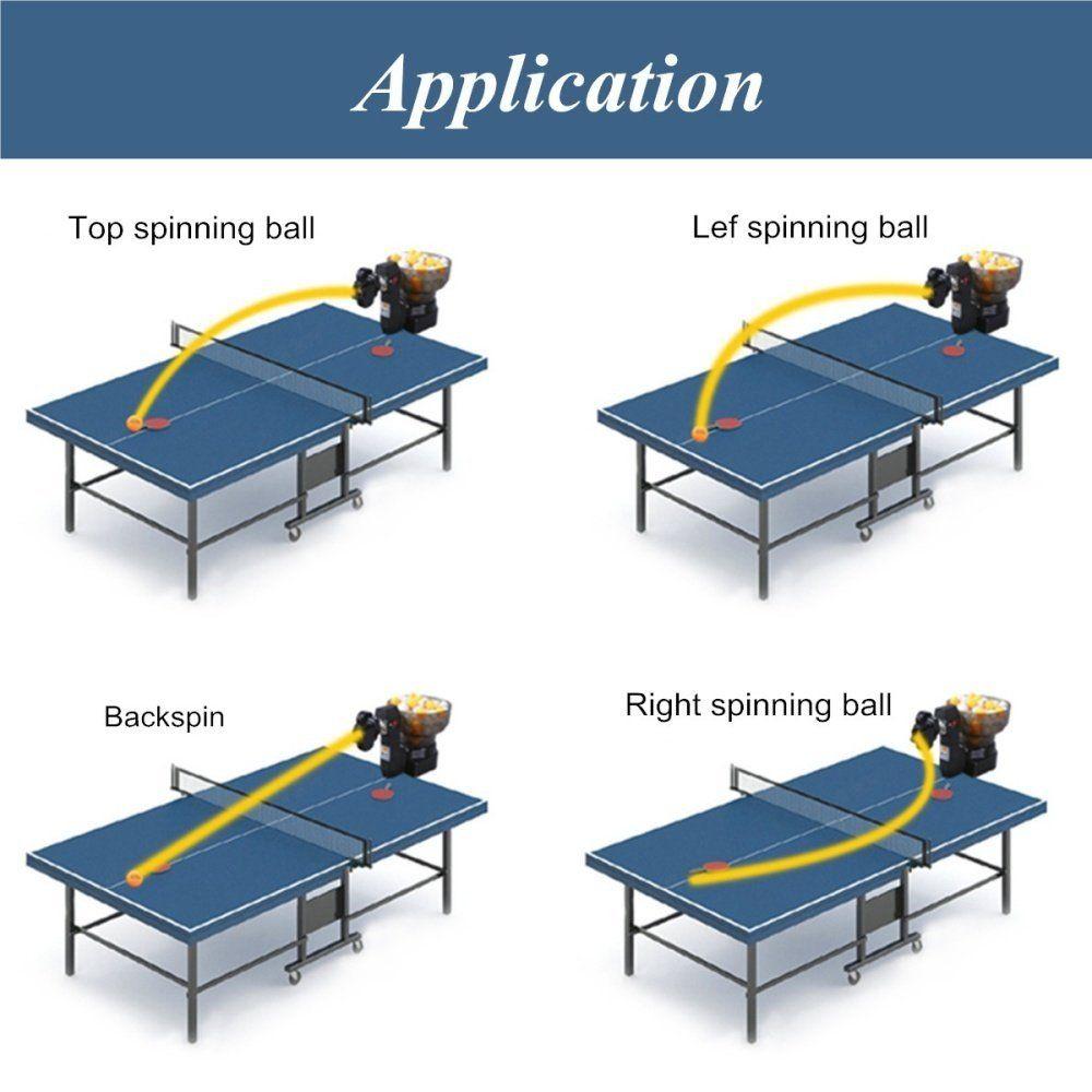 Ponsel 07 Ping Pong Tenis Meja Robot Otomatis Mesin Bola Untuk Latihan Latihan Internasional Ping Pong Tenis Ponsel