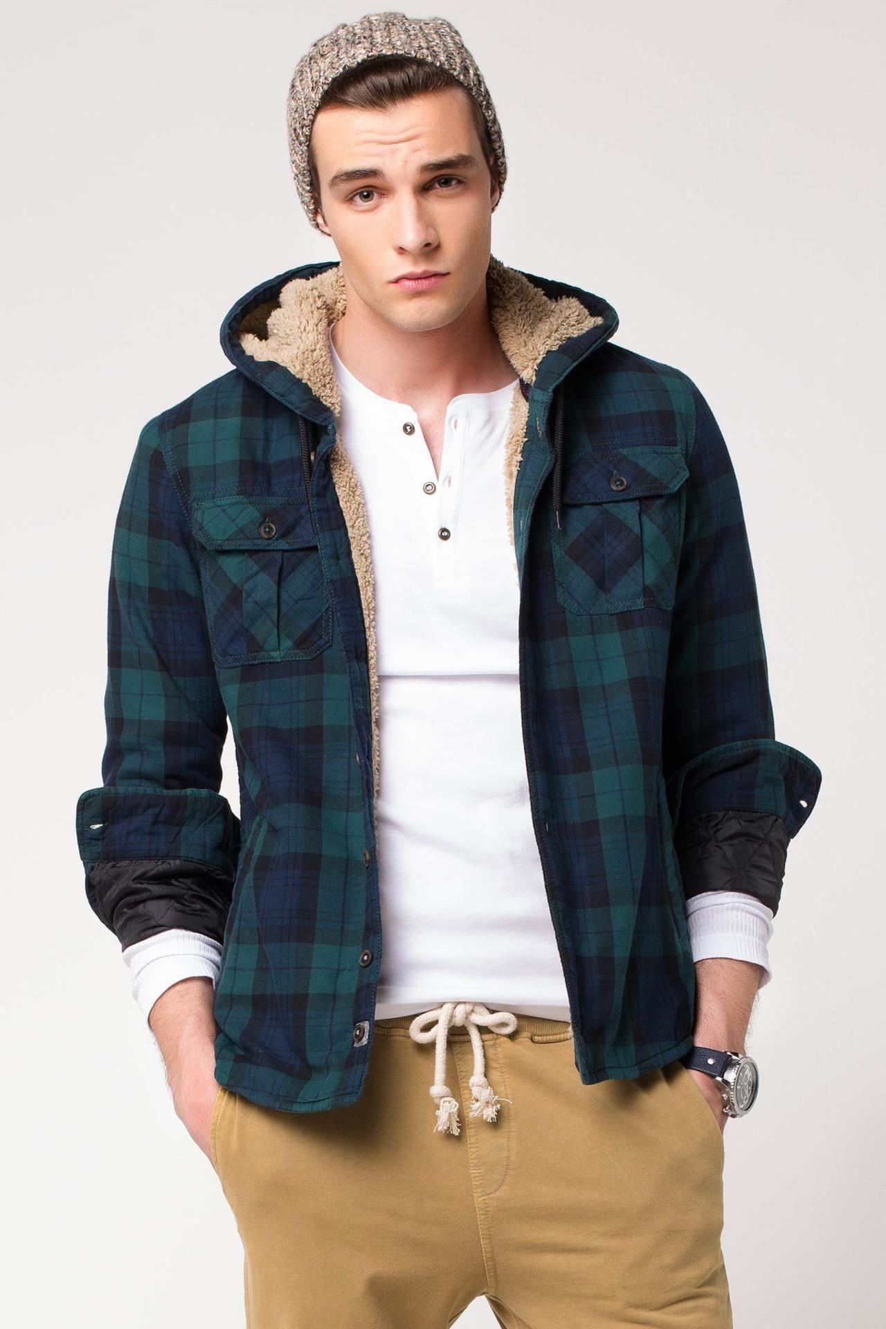 Defacto Ici Kurklu Kapsonlu Mont Kapsonlular Erkek Giyim Moda