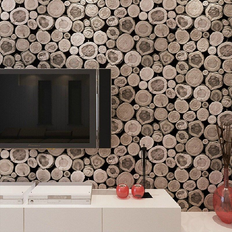 The Wooden Log Texture Gives It A Natural Look And Feels Which Is What Makes It One Of A Kind Textured Wallpaper Log Wallpaper Wood Wallpaper