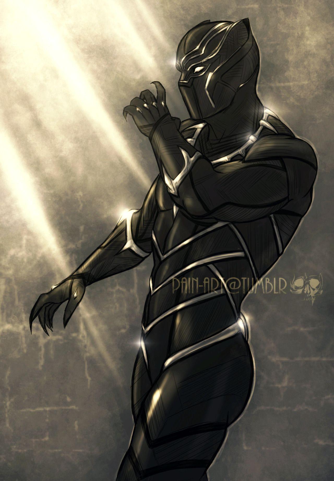 Black Panther Marvel Art