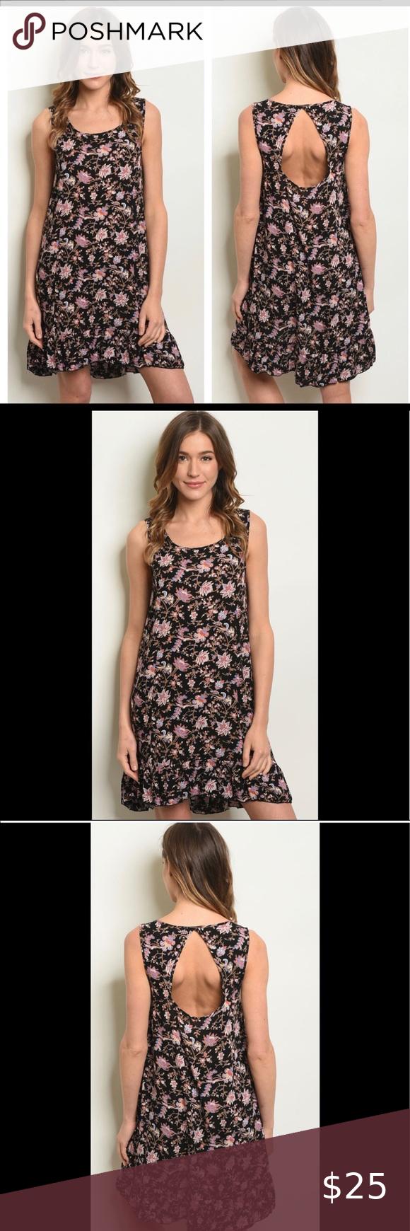 New Floral Summer Sun Dress Floral Dress Black Cute Black Dress Floral Dress Summer [ 1740 x 580 Pixel ]