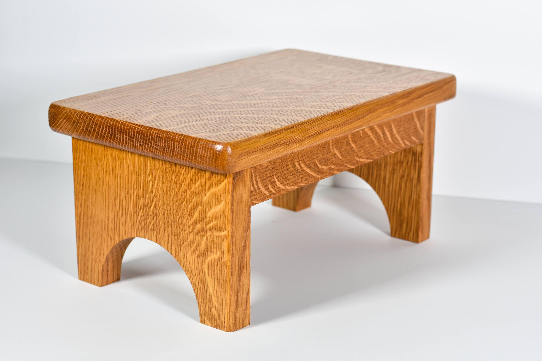 Craftsman Oak Step Stool Single Small Sy Sink Bedside
