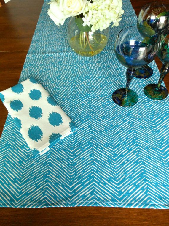 Teal Table Runner Wedding Shower 13 X 72 Chevron Teal Blue Turquoise Holiday Table Runners Table Cloth De Chevron Table Runners Teal Table Holiday Table Runner