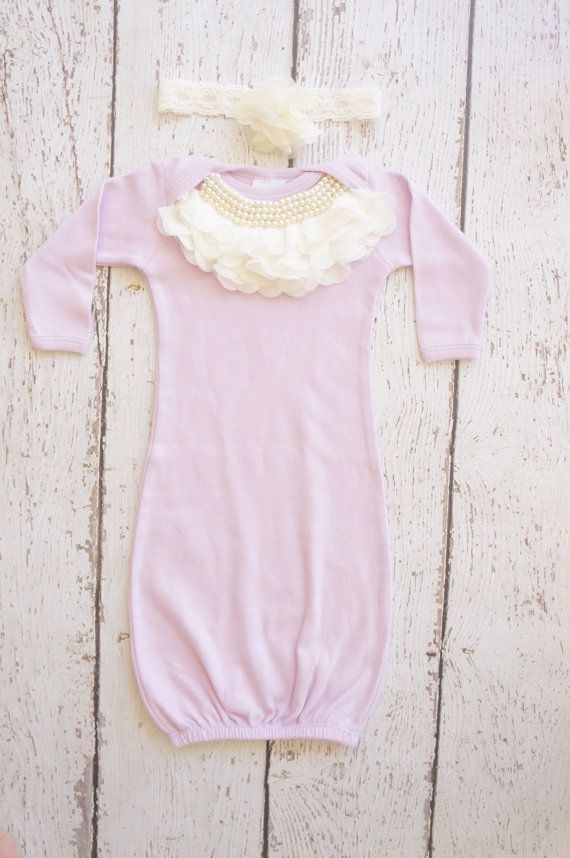 newborn baby gown newborn girl take home outfit by poshpeanutkids