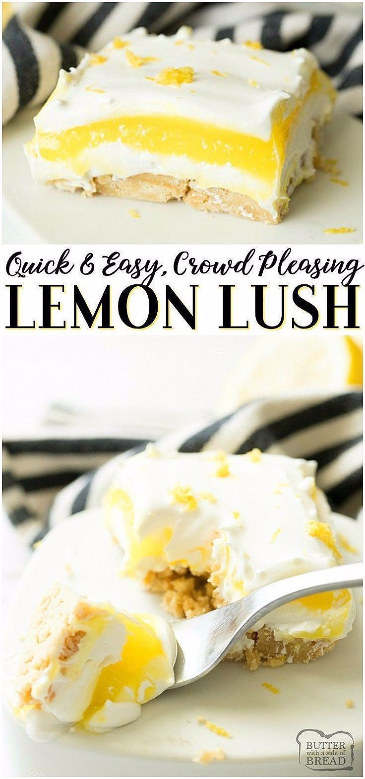 Photo of LEMON LUSH DESSERT RECIPE – Butter with a Side of Bread