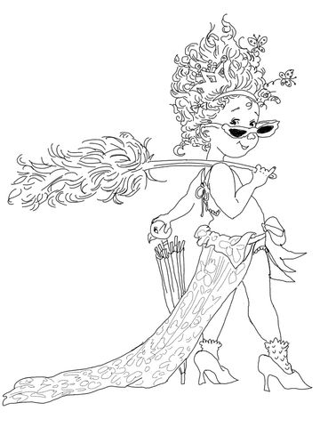 Fancy Nancy with Umbrella Coloring page