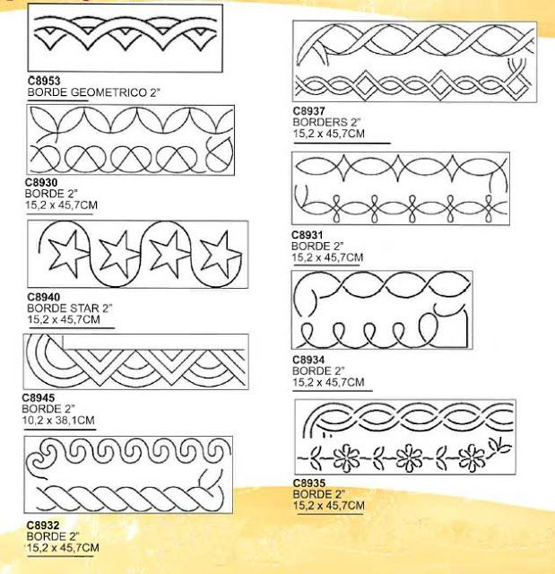 plantillas para bordes … | Quilts &…