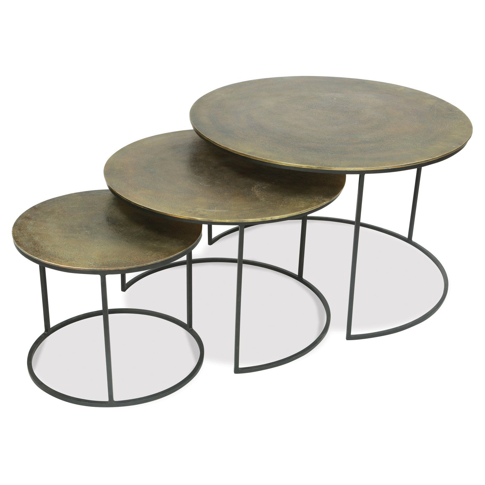 Riverside Furniture Portia 3 Piece Nesting Coffee Tables