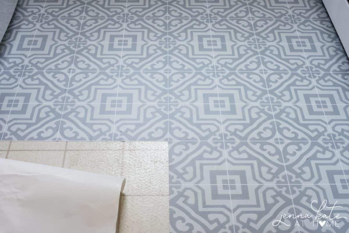 The Laundry Room Floor Linoleum Flooring Flooring Peel