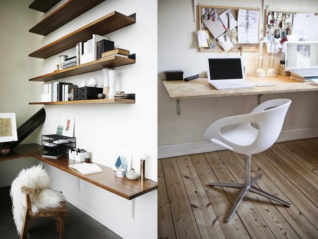 20 inspirations pour un petit bureau | dream home | Bureau, Coin ...