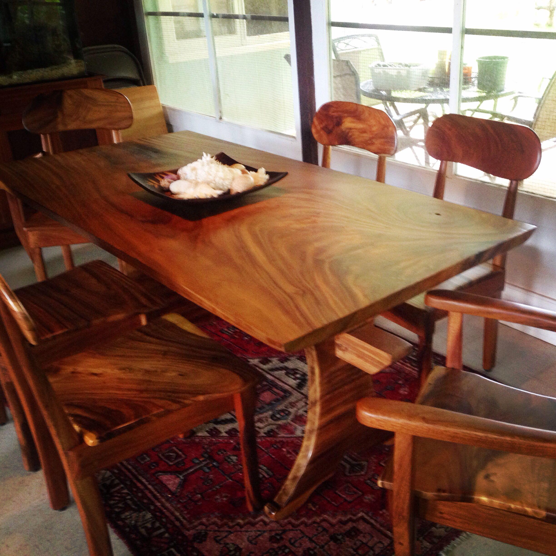 Natural Wood Furniture Monkey Pod Dining Room Table Madeour Beauteous Natural Wood Dining Room Tables Decorating Design