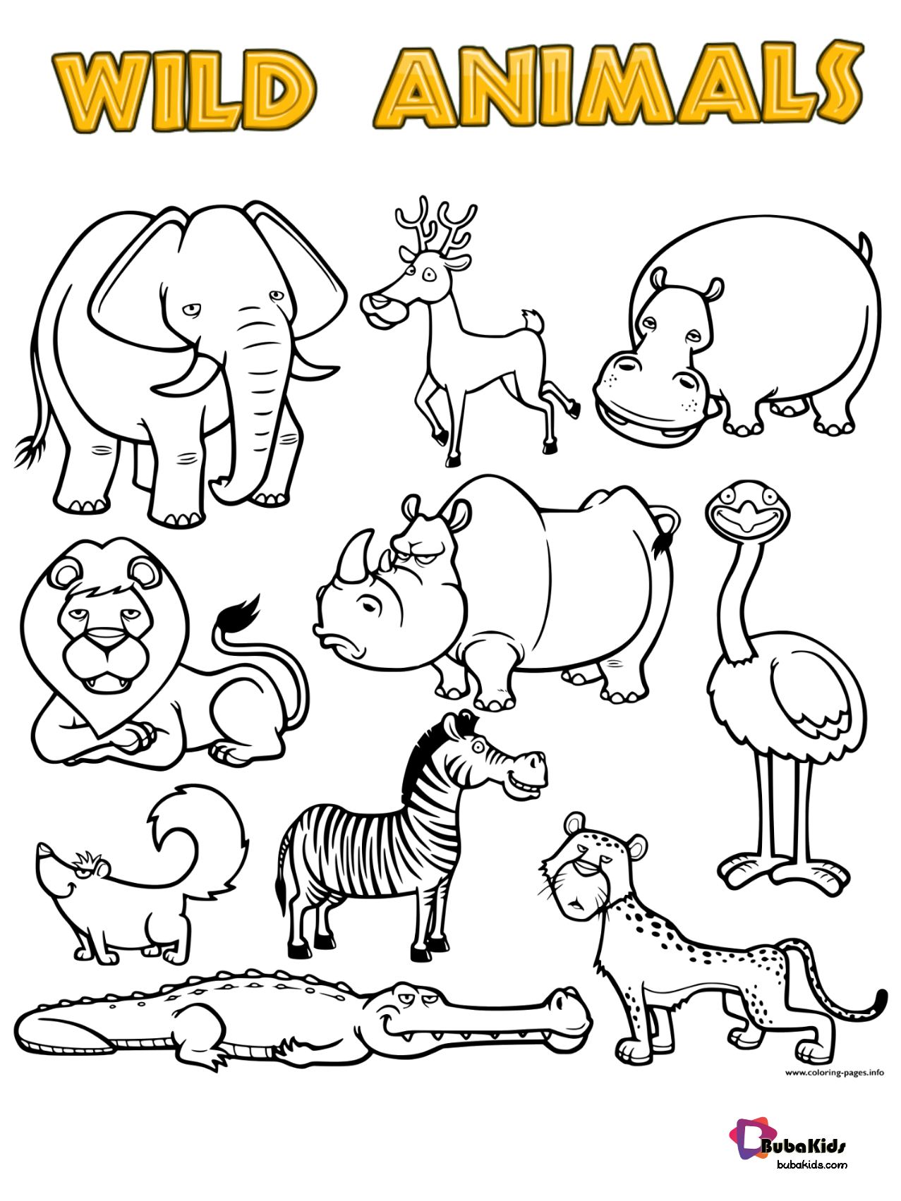 Free Download Wild Animals Printable Coloring Page Collection Of Animal Coloring Pages For Teenag Wild Animals Printable Coloring Pages Animal Coloring Pages