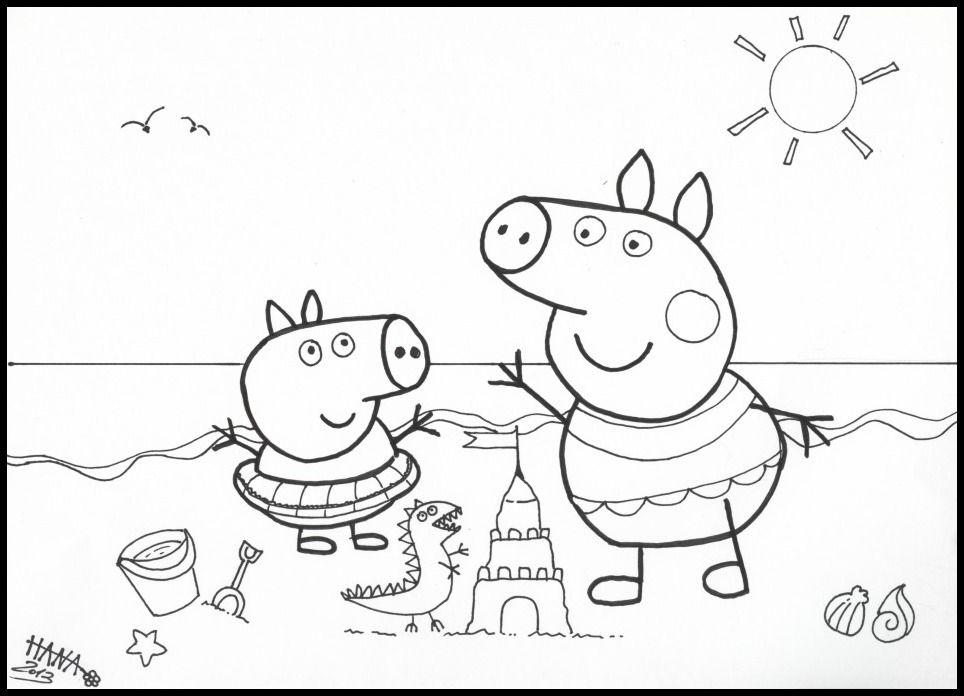 Très Coloriage Peppa Pig à colorier - Dessin à imprimer | Coloriage  DP72